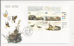 Lettre Du Canada De 2005 - FDC - Audubon - Alouette - Pluvier - Becasseau - Lagopède - Enveloppe - Oiseaux