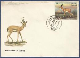 PAKISTAN 1983 MNH FDC FIRST DAY COVER CHINKARA, GAZELLE ,11TH WILDLIFE SERIES, WILD LIFE, ANIMAL, ANIMALS - Pakistan