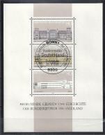 Deutschland Bund 1985 Block 20 Ersttagssonderstempel ** Bedeutende Gebäude Der Geschichte Der BRD Mi 1287 1288 1289 - BRD