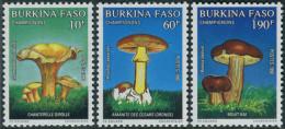 Burkina Faso 1990. Michel #1231,1233/34 MNH/Luxe. Mushrooms
