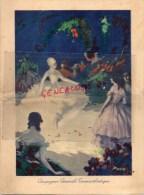 BATEAUX - PAQUEBOT-  MENU PAQUEBOT LAFAYETTE - SOUPER REVEILLON NOEL 1928- COMMANDANT J. LANCELOT- POVO - Menus