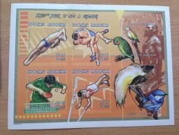 Madagascar Madagaskar 2000 IMPERF NON DENTELE Bloc Sheets Olympic Games Jeux Olympiques Sydney Olympia **
