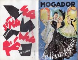 75 - PARIS - BEAU PROGRAMME THEATRE MOGADOR- LA VEUVE JOYEUSE-HENRI VARNA- EPERNAY DE CASTELLANE- JANSEN DUVAL-1957 - Programmes