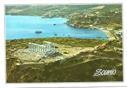 Nº15-73 ATHENS-SOUNION - POSEIDON'S TEMPLE - AIRVIEW - Greece