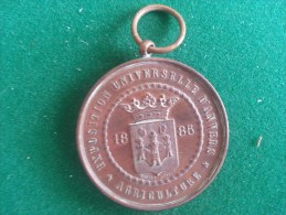 Exposition Universelle D´Anvers, Agriculture 1885 (Baetes), 42 Gram (medailles0053) - Autres