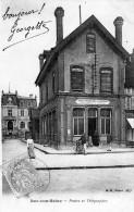 BAR SUR SEINE - LES POSTES TELEGRAPHES TELEPHONES - CAISSE NATIONALE D'EPARGNE - BELLE CARTE- PRECURSEUR - ANIMEE - TOP - Bar-sur-Seine