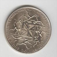 """1 Dollar Commémoratif Nouvelle Zélande 1974  """"14ème Jeux Du Commonwealth"""" - Nouvelle-Zélande"""