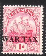 Bermuda 1918 War Tax Stamp Ship MLH - Bermuda