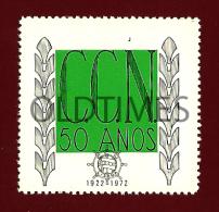 PORTUGAL - SELO COMEMORATIVO - 50 ANOS DA COMPANHIA COLONIAL DE NAVEGAÇÃO - 1972 OLD STAMP - Portugal