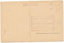 """1925 Zichtkaart  Anvers""""Le Brabo"""" Met PZ190+136 Van Bruxelles 9 Naar Bruxelles Zie Scans - 1922-1927 Houyoux"""