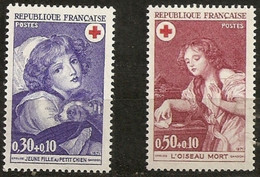 France 1971 Neuf N° 1700  & 1701 Croix Rouge - France