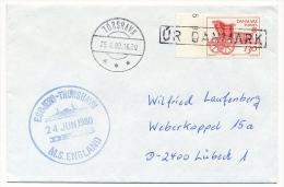 "DANEMARK - Enveloppe - Paquebot ""ESBJERG-THORSHAVN / M/S ENGLAND"" - 1980 - Denmark"