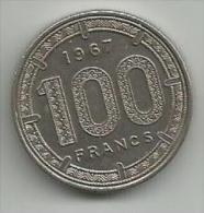 Afrique Equatoriale 100 Francs 1967. - Monnaies