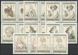 """Österreich 1969  Satz   """"200 Jahre Albertina""""   2er Streifen   ANK Nr. 1337 - 1344 **/ Feinst Postfrisch - 1945-.... 2nd Republic"""