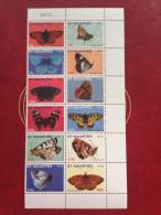 Sint Maarten 2012 Butterfly Butterflys Papillons Schmetterling Faune Fauna MNH **12 Stamps - Antilles