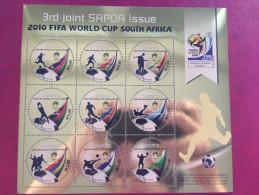 Lesotho 2010 World Cup FIFA South Africa Coupe Du Monde WM SAPOA Souvenir Sheet Bloc Block MNH**