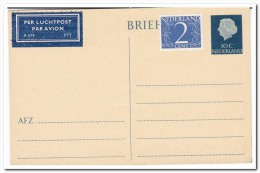 Briefkaart 10ct. Verhoogd Met 2ct. Luchtpost - Postal Stationery