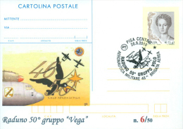 "PISA - RADUNO 50^ GRUPPO ""VEGA""  - CARTOLINA - INTERO POSTALE CON SOPRASTAMPA PRIVATA - Meetings"