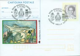 GROSSETO - 4^ STORMO CACCIA    - CARTOLINA - INTERO POSTALE CON SOPRASTAMPA PRIVATA - 1939-1945: 2. Weltkrieg