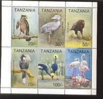 TANZANIA   1105 MINT NEVER HINGED MINI SHEET OF BIRDS - Vögel