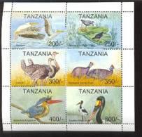 TANZANIA   1106  MINT NEVER HINGED MINI SHEET OF BIRDS - Vögel