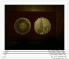 MEDAGLIE (argento e bronzo) COMMEMORATIVE  DEL RIFACIMENTO PLANISFERO DELL�OROLOGIO ASTRONOMICO DEL  TORRAZZO DI CREMONA