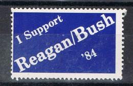 Viñeta Supotr REAGAN And BUSH. Elections 1984 * - Variedades, Errores & Curiosidades