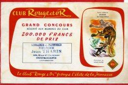 * BUVARD PUBLICITAIRE - CLUB Rouge Et Or...Illustration De Henri DIMPRE ( Voir Tampon Librairie Et Papeterie à TOURCOING