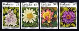 BARBADOS BARBADE 1995, FLEURS DE NENUPHARS, 4 valeurs, neufs / Mint. R734