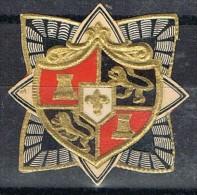 Etiqueta Con Escudo Alemania, Relieve...a Identificar - Etiquetas