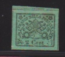 Etats Pontificaux // N 12  //   2 Cents Vert //  NEUF Avec Charnière  //  Côte 55 € - Etats Pontificaux