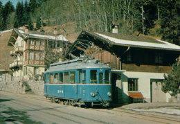 Chemin De Fer Suisse, Bex-Villars-Bretaye, Tram De Lausanne,Train à Gryon-Villars, Photo 1976 Ferroview 79602 BVB - Eisenbahnen