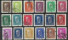 ESTLAND Estonia Estonie 1936-1940 Präsident Päts Kompletter Satz Incl. Mi 158 X & Y !! - Estonie