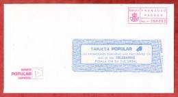 Brief, Banco Popular, Barfrankaturaufdruck Franqueo Pagado Aut.no 280002 (59538) - Poststempel - Freistempel
