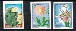 Kamerun 1971**, Bl�ten, Kaktus Opuntia polyacantha / Cameroun 1971, MNH, Blossoms, cactus Opuntia polyacantha