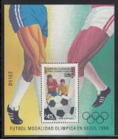 Chile MNH Scott #751 Souvenir Sheet 45p Four Soccer Players - World Youth Soccer Championships - Chili