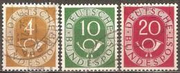Allemagne - 1951 - Cor Postal - YT 10, 14 Et 16 Oblitérés - Usados