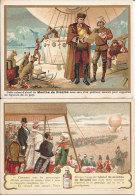 Rare 20 Chromos 1900 Publicité Alcool Mente Ricqlès Ballon Expédition Pôle Nord-Li Hung Chang-Duel-Tacot-Cycle-Co Lonial - Chromos
