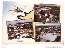 FLEURE -    N°  170   -  3 Vues -  Carte De La France  -  Hélicoptère - France