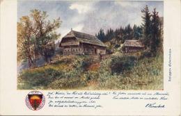 Roseggers Geburtshaus, Künstlerkarte V. Kernstock, DSV-Karte Nr.144 - Schriftsteller