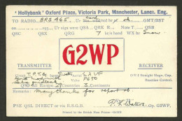 YC168 UK British G2WP PD Waters Hollybank Oxford Place Victoria Park Manchester 1930s - Radio Amateur