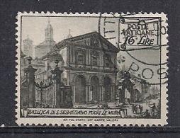 VATICANO 1949 BASILICHE SASS.127 USATO - Usati