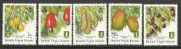 BR.VIRGIN ISLANDS   FRUITS    SET   2007  IMPRINT  AT  BASE  MNH
