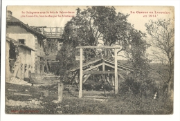 Cp, Militaria, La Guinguette Sous Le Ois De Saint-Anne, Près De Lunéville, Bombardée Par Les Allemands, éécrite - Guerre 1914-18