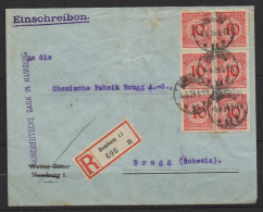 S329.-. GERMANY REICH STAMPS- INFLATION COVER, HAMBURG 6-6-24 TO BRUGG.ARRIVAL CACHET - Briefe U. Dokumente
