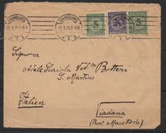 S333.-.GERMANY REICH STAMPS- INFLATION COVER, HAMBURG 31-1-24 TO VIADANA, ARRIVAL CACHET - Briefe U. Dokumente