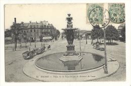 Cp, 51, Reims, Place De La République Et Avenue De Laon, Voyagée 1906 - Reims
