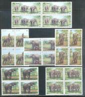 Blocks 4 Of Vietnam Viet Nam MNH Perf Stamps 1986 : Asian Elephants / Elephant (Ms511) - Vietnam