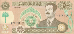 IRAQ 50 DINARS 1991 aUNC P 75