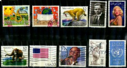 Etats Unis 10 Timbres Oblitérés - Vereinigte Staaten